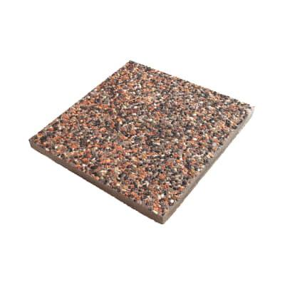 Lastra 50 x 50 cm Tanaro rossa, spessore 4 cm