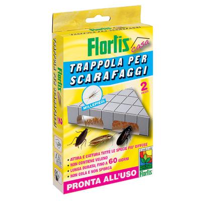 Trappola Adesiva scarafaggi Flortis 2 pezzi