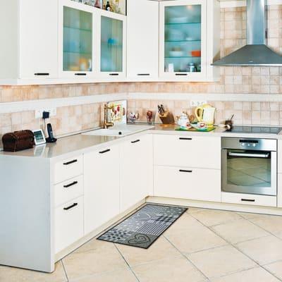Tappetino cucina antiscivolo Master cuore grigio 50 x 270 cm
