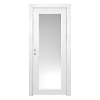 Porta da interno battente Star Vetro Bianco Matrix 80 x H 210 cm reversibile