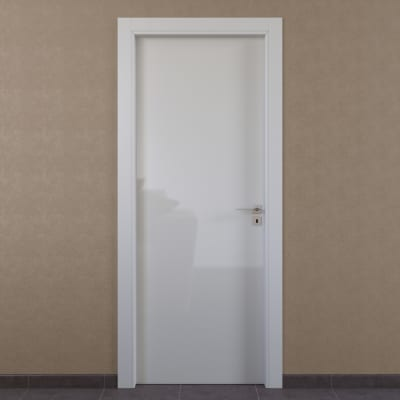 Porta da interno battente Massaua white bianco 80 x H 210 cm sx