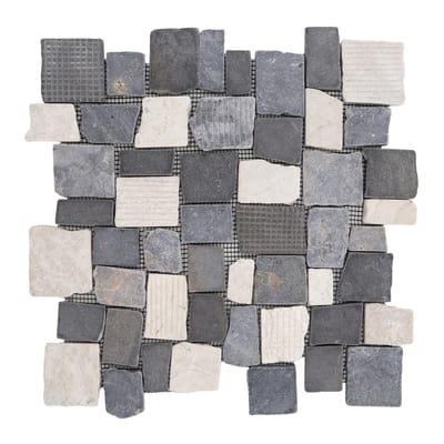 Formella Quadropiatto bianco, nero 30 x 30 cm