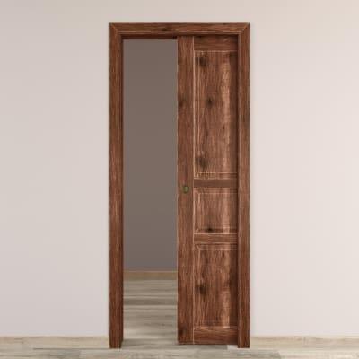Porta da interno scorrevole Old Town noce sbiancato 80 x H 210 cm reversibile