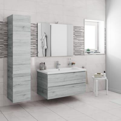Mobile bagno Gola sharewood platino L 95 cm