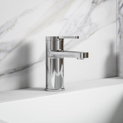 Mobile bagno Devon bianco opaco L 105 cm