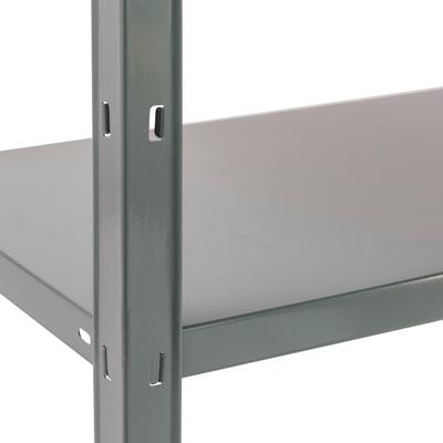 Scaffale metallo grigio Clicker 5 ripiani L 100 x P 40 x H 193 cm