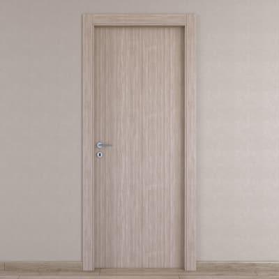 Porta da interno battente Cedar sabbia 80 x H 210 cm reversibile