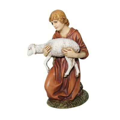 Pastore con  agnello H 12 cm