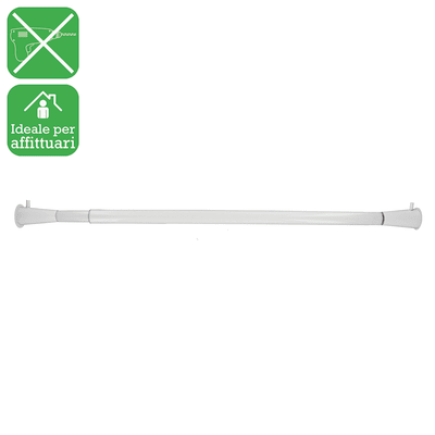 Bastone per tenda con finali estensibile bianco Ø 20 mm L 86 - 143 cm