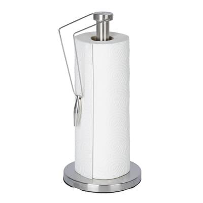 Porta rotolo cucina Preston in acciaio inox L 15 x P 15 x H 33 cm