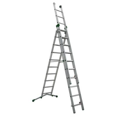 Scala sfilo alluminio Facal 3x10 gradini, per lavori fino a 5,1 m