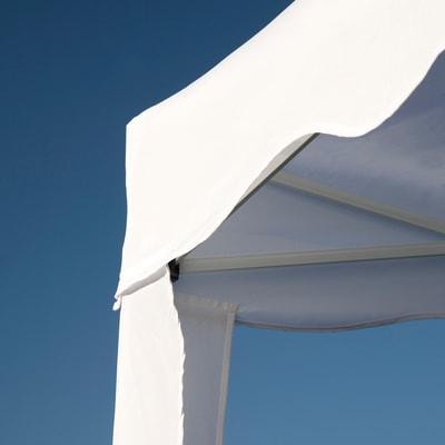 Gazebo pieghevole copertura bianca 3 x 3 m
