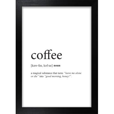 Stampa incorniciata Coffee 13 x 18 cm