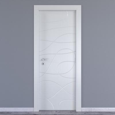 Porta da interno battente Wind white bianco 70 x H 210 cm dx