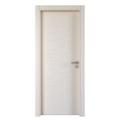 Porta da interno battente Flower ivory avorio 80 x H 210 cm sx