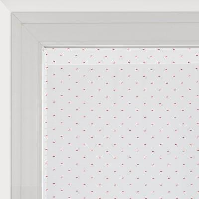 Tendina a vetro regolabile per finestra Anika bianco e rosso 60 x 150 cm