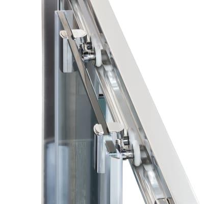Box doccia scorrevole Namara 77-79,5 x 77-79,5, H 195 cm cristallo 8 mm trasparente/silver