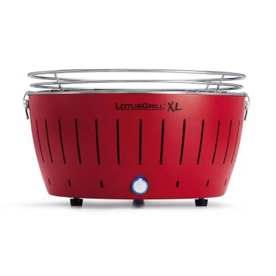 Barbecue a carbonella senza fumo XL rosso
