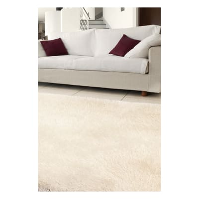 Tappeto Shaggy enzo lurex bianco 160 x 230 cm
