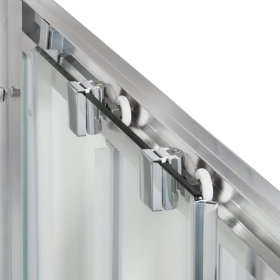 Box doccia scorrevole Quad 77.5-79 x 117,5-119, H 190 cm cristallo 6 mm serigrafato/silver