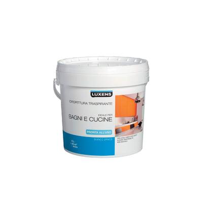 Idropittura traspirante bianca Luxens 4 L
