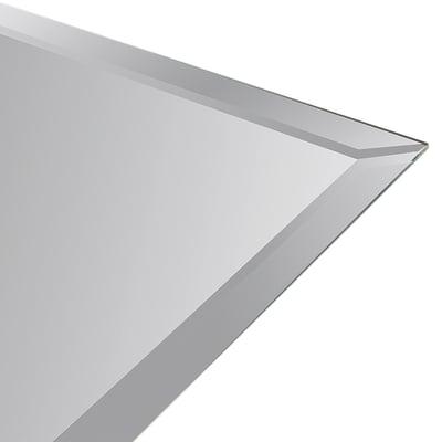 Specchio Specchio su misura bisellato con piastre di attacco 12 x 12 cm