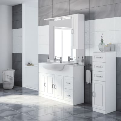 Mobile bagno Paola bianco L 120 cm prezzi e offerte online | Leroy ...
