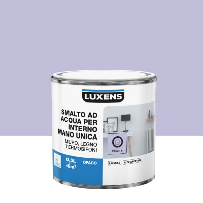 Smalto manounica Luxens all'acqua Viola Elisir 6 opaco 0.5 L