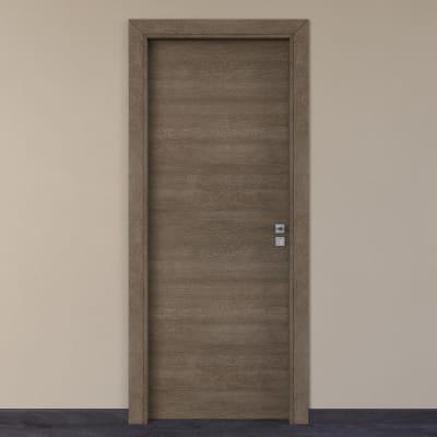 Porta per hotel battente Radisson tabacco 90 x H 210 cm sx