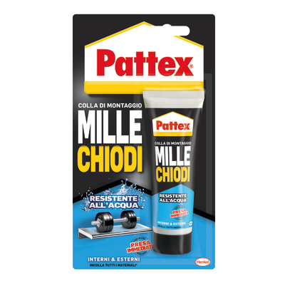 Colla di montaggio e fissaggio effetto chiodo Millechiodi esterno Pattex bianco 100 g