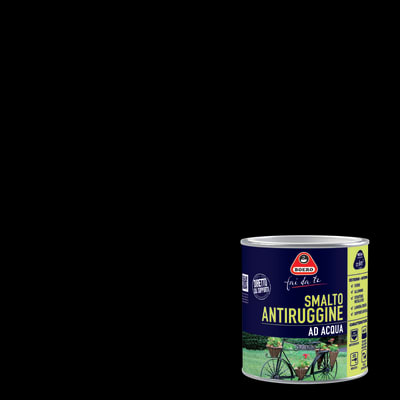 Smalto per ferro antiruggine nero satinato 0,5 L