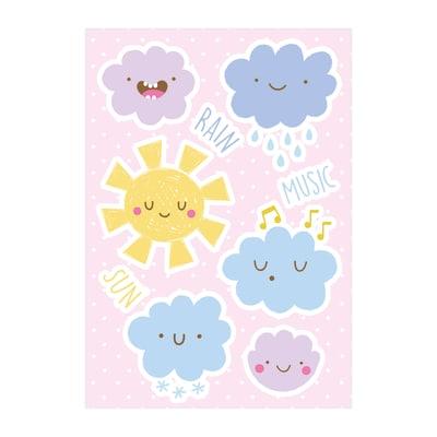 Sticker XL Happy Clouds