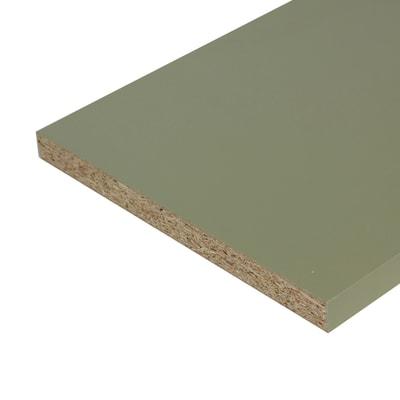 Pannello melaminico verde 25 x 300 x 2500 mm
