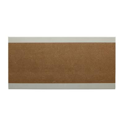 Battiscopa carta finish rivestito bianco 15 x 100 x 2400 mm