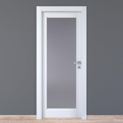 Porta da interno battente Bellatrix bianco 80 x H 210 cm sx