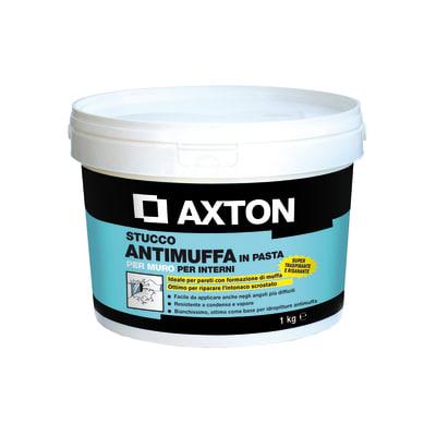 Stucco in pasta Axton Antimuffa liscio bianco 1 kg