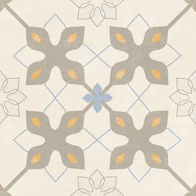 Piastrella Charming 20 x 20 cm beige, azzurro, grigio