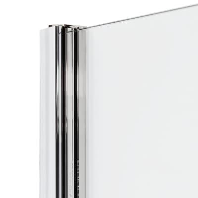 Doccia con porta scorrevole e lato fisso Neo 137 - 141 x 77 - 79 cm, H 200 cm vetro temperato 6 mm fumè/silver