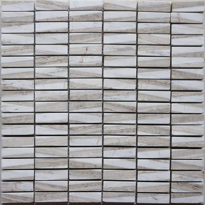 Mosaico Mineral 30 x 30 cm bianco, beige