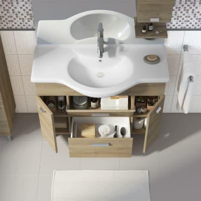 Mobile bagno Rimini rovere L 105 cm