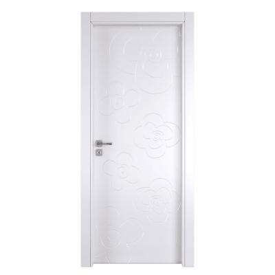 Porta da interno battente Flower white bianco 70 x H 210 cm dx