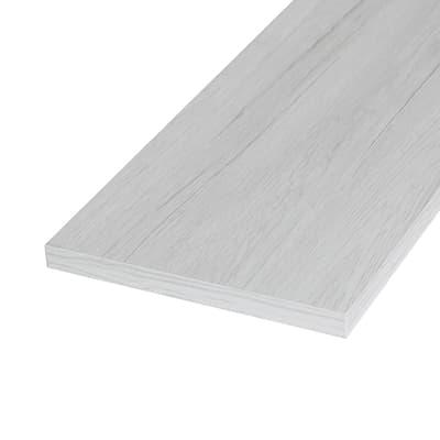 Pannello melaminico rovere bianco 18 x 600 x 1000 mm