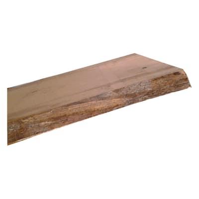 Tavola massello legno L 200 x P 48 cm grezzo