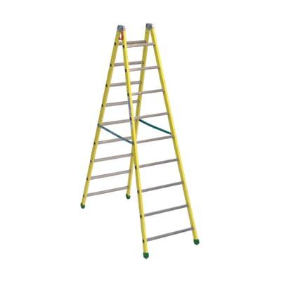 Scala doppia alluminio Facal 9 gradini, per lavori fino a 2 m