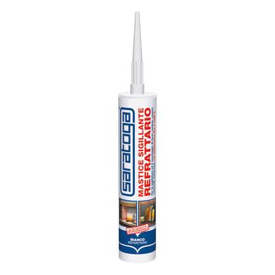 Silicone sigillante Saratoga Mastice Refrattario bianco 420 g