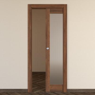 Porta da interno scorrevole Vei noce 70 x H 210 cm reversibile