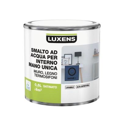 Smalto manounica Luxens all'acqua Blu Zaffiro 1 satinato 0.5 L