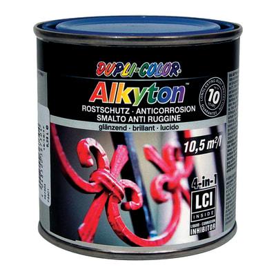 Smalto per ferro antiruggine Alkyton blu RAL 5010 brillante 0,25 L