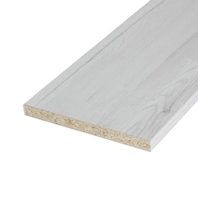 Pannello melaminico rovere bianco 18 x 400 x 2500 mm