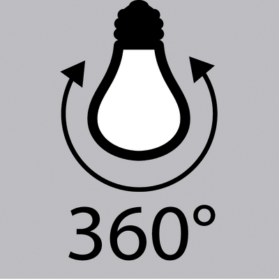 Lampadina LED Filamento E27 =75W globo luce calda 360°